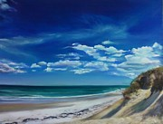 Sand Pastels - Blue Sky Walk by Laura Craciun