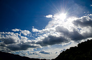 Grey Clouds Photo Posters - Blue sky with clouds Poster by Mats Silvan