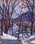 New York Painter Paintings - Blue Snow by Thor Wickstrom