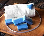 Handmade Art - Blue Soap Bar by Anastasiya Malakhova