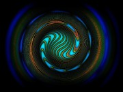 Spiral Digital Art - Blue spiral by Klara Acel