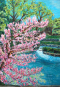 Eureka Springs Painting Prints - Blue Spring Print by Carolyn Donnell