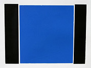 Original Mono Print Reliefs - Blue Square by Scott Shaver