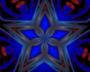 Images For Cards - Holidays - Blue Star by David Lane