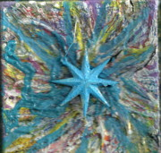 Blue Star Shining At Me Print by Anne-Elizabeth Whiteway