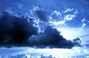 Grey Clouds Photos - Blue Storm Cloud 2 by Andee Photography