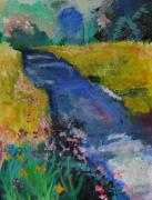 Julie Lueders Artwork Originals - Blue Stream by Julie Lueders