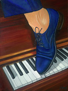 Blue Suede Shoes Print by Marlyn Boyd