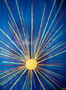 Sun Rays Paintings - Blue-sun by Alexander Holmes