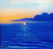 Coastal Pastels - Blue Sunset by Jan Amiss
