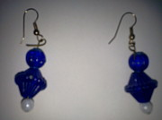Plastic Jewelry - Blue Teardrops by Karen Jensen