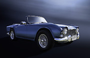 European Framed Prints - Blue TR4 Framed Print by Douglas Pittman