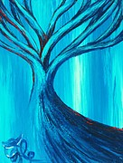 Central America Paintings - Blue Tree 07 by Xole