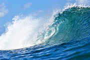Blue Tube Wave Print by Paul Topp