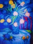 Blue Tulips      Art Deco Print by Gunter  Hortz