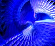 Cinema 4d Prints - Blue tunnel Print by Libor Bednarik