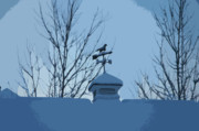 Weather Vane Prints - Blue Vane Print by Valerie Rakes