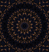 Mandalas Digital Art - Blue Velvet 5 by Rhonda Barrett