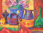 Pitcher Paintings - Blue Velvet by Blenda Tyvoll