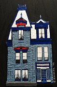 Robert Handler Prints - Blue Victorian Mansion Montreal Print by Robert Handler