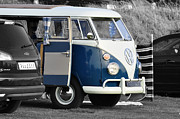 Van Photos - Blue VW Camper by Paul Howarth