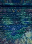 Blue Wake Print by Anne-Elizabeth Whiteway