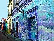Michael Metal Prints - Blue Wall by Michael Fitzpatrick Metal Print by Olden Mexico