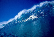 Surf Art Digital Art Posters - Blue Wall Poster by Paul Topp