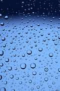 H2o Posters - Blue Water Bubbles Poster by Frank Tschakert