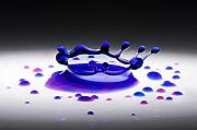 Featured Photos - Blue Water Drop 2 by Michael Dykstra