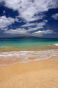 Big Beach Posters - Blue water of Big beach Maui Hawaii Poster by Pierre Leclerc