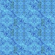 Sue Duda Digital Art Posters - Blue Water Patchwork Poster by Sue Duda