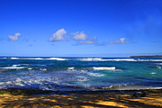 Hawaii Photos - Blue waters of Kauai by Dana Kern