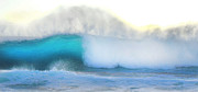 Beach Art Photos - Blue Wave by Kristine Merc