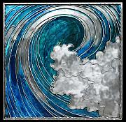Waves Sculptures - Blue Wave by Laura  Knight
