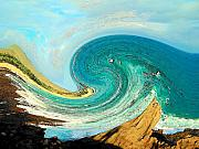 Wave Art - Blue Wave by Vijay Sharon Govender