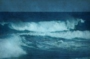 Crashing - Blue Waves - Jersey Shore by Angie McKenzie