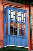 Latin America Photos - Blue Window in Bogota by John Rizzuto
