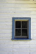 Cabin Window Framed Prints - Blue Window Framed Print by JAMART Photography
