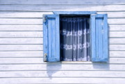 Carribean Framed Prints - Blue window Framed Print by John Greim