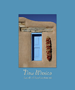 Assisi Church Photos - Blue Window of Taos with text by Heidi Hermes