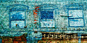 Blue Bricks Prints - Blue windows. Print by Emilio Lovisa