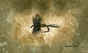 Fly Fishing Painting Prints - Blue Winged Olive Print by Sean Seal