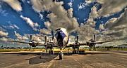 Passenger Plane Photo Framed Prints - Blue Yonder Framed Print by William Wetmore