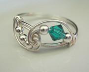Ring Jewelry - Blue Zircon by Dawn Dion