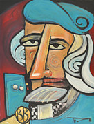 Caricature Paintings - Bluebeard by Tim Nyberg