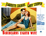 Beach Towel Posters - Bluebeards Eighth Wife, From Left Gary Poster by Everett