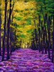 Woods Art - Bluebell Vista by Johnathan Harris