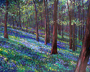 Bluebell Woods Print by Li Newton