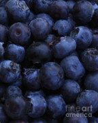 Blueberries Prints - Blueberries Close-Up - Vertical Print by Carol Groenen